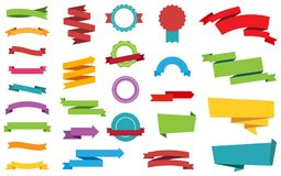 Etiqueta de las banderas de las etiquetas engomadas de las etiquetas libre illustration