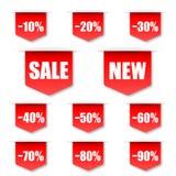 Etiqueta de las ventas