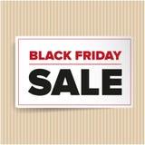 Etiqueta de las ventas de Black Friday Imagen de archivo libre de regalías
