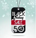 Etiqueta de las ventas de Black Friday ilustración del vector
