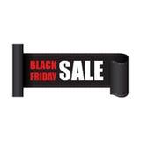Etiqueta de las ventas de Black Friday Foto de archivo