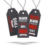 Etiqueta de las ventas de la colección de Black Friday Fotos de archivo libres de regalías