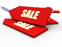 Etiqueta de las ventas que brilla intensamente Fotos de archivo