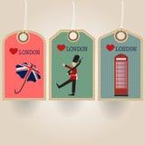 Etiqueta de Londres stock de ilustración