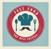 Etiqueta de los alimentos de preparación rápida Foto de archivo libre de regalías
