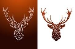 Etiqueta de los ciervos del vintage Gráfico retro del diseño del vector Fotografía de archivo libre de regalías
