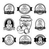 Etiqueta de los cotos de la confitura del arándano Fotografía de archivo