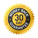 30 - etiqueta de los días de garantía de devolución de dinero Foto de archivo