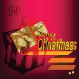 Etiqueta de los garabatos de la caja de regalo de la Feliz Navidad Imágenes de archivo libres de regalías