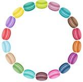 Etiqueta de los macarrones en forma redonda Fotografía de archivo libre de regalías