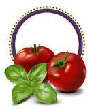 Etiqueta de los tomates Imágenes de archivo libres de regalías
