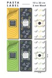 Etiqueta de lujo de las pastas con muchos variación del sabor y de los colores Fotos de archivo libres de regalías