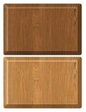 Etiqueta de madeira Imagens de Stock Royalty Free