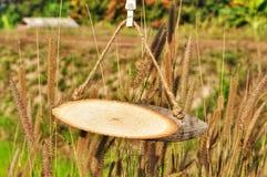 Etiqueta de madeira do nome imagens de stock