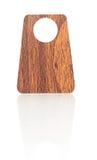 Etiqueta de madera de la etiqueta Foto de archivo libre de regalías