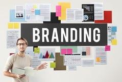 Etiqueta de marcagem com ferro quente Logo Marketing Sign Concept de Copyright imagem de stock royalty free