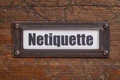 Etiqueta de Netiqutte (etiqueta de Internet) Imágenes de archivo libres de regalías