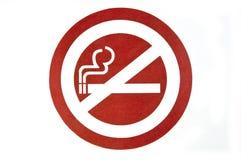 Etiqueta de no fumadores Imagenes de archivo