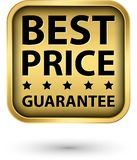 Etiqueta de oro de la mejor garantía del precio, vector libre illustration