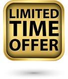 Etiqueta de oro de la oferta por tiempo limitado, vector libre illustration