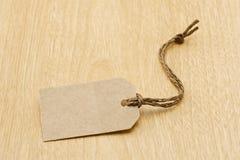 Etiqueta de papel Foto de archivo libre de regalías
