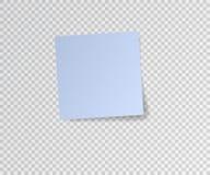 Etiqueta de papel com sombra no fundo transparente Ilustração do vetor Imagens de Stock