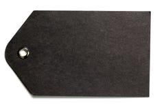 Etiqueta de papel negra del regalo Foto de archivo libre de regalías