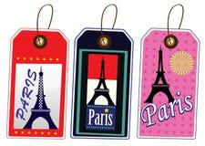Etiqueta de Paris Fotos de Stock Royalty Free