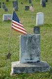 Etiqueta de plástico americana del sepulcro de la guerra civil Imagen de archivo libre de regalías