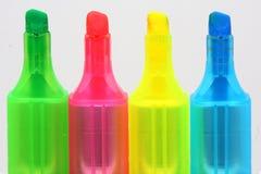 Etiqueta de plástico colorida Fotos de archivo