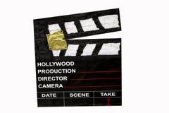 Etiqueta de plástico de la escena de la película Fotografía de archivo