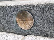 Etiqueta de plástico de la milla Imagen de archivo libre de regalías