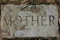 Etiqueta de plástico de piedra de la ?madre? Imágenes de archivo libres de regalías