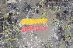 Etiqueta de plástico del rastro para los caminantes Fotografía de archivo