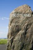 Etiqueta de plástico escocesa de la frontera Foto de archivo