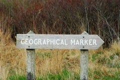 Etiqueta de plástico geográfica Imágenes de archivo libres de regalías