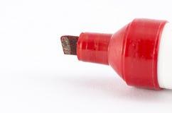 Etiqueta de plástico roja Imagenes de archivo