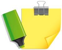 Etiqueta de plástico y nota Foto de archivo libre de regalías