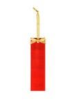 Etiqueta de preço vazia no fundo branco, etiqueta de preço do Natal Fotos de Stock Royalty Free