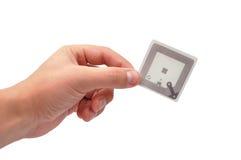 Etiqueta de RFID Fotografía de archivo