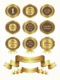 Etiqueta de /Stamp /Quality del sello del oro Imágenes de archivo libres de regalías