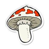 Etiqueta de um cogumelo venenoso dos desenhos animados ilustração stock