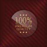 Etiqueta de vidro da qualidade superior ilustração stock