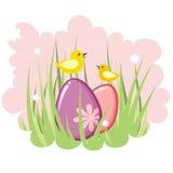 Etiqueta decorativa linda de pascua Imagen de archivo libre de regalías