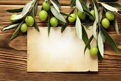 Etiqueta del aceite de oliva fotografía de archivo libre de regalías