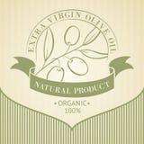 Etiqueta del aceite de oliva del vintage Imagen de archivo libre de regalías