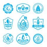 Etiqueta del agua stock de ilustración