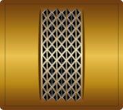 Etiqueta del amarillo del metal Imagen de archivo libre de regalías