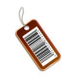 Etiqueta del código de barras Imagen de archivo libre de regalías