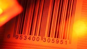 Etiqueta del código de barras almacen de metraje de vídeo